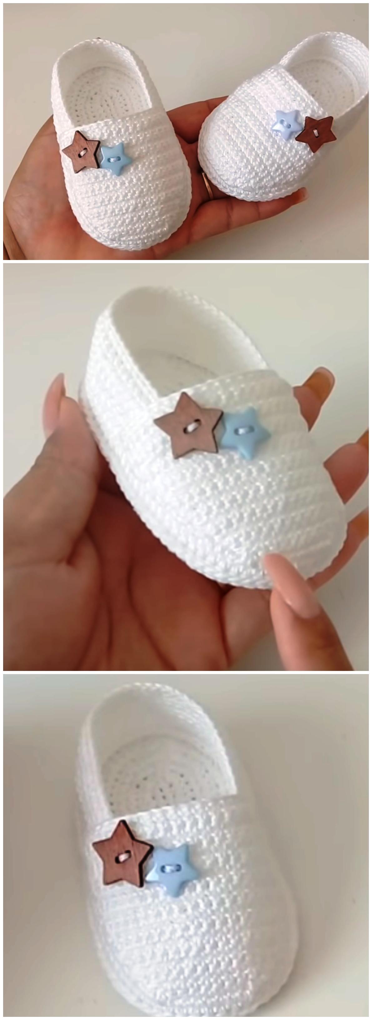 Crochet Baby Espadrilles - We Love Crochet