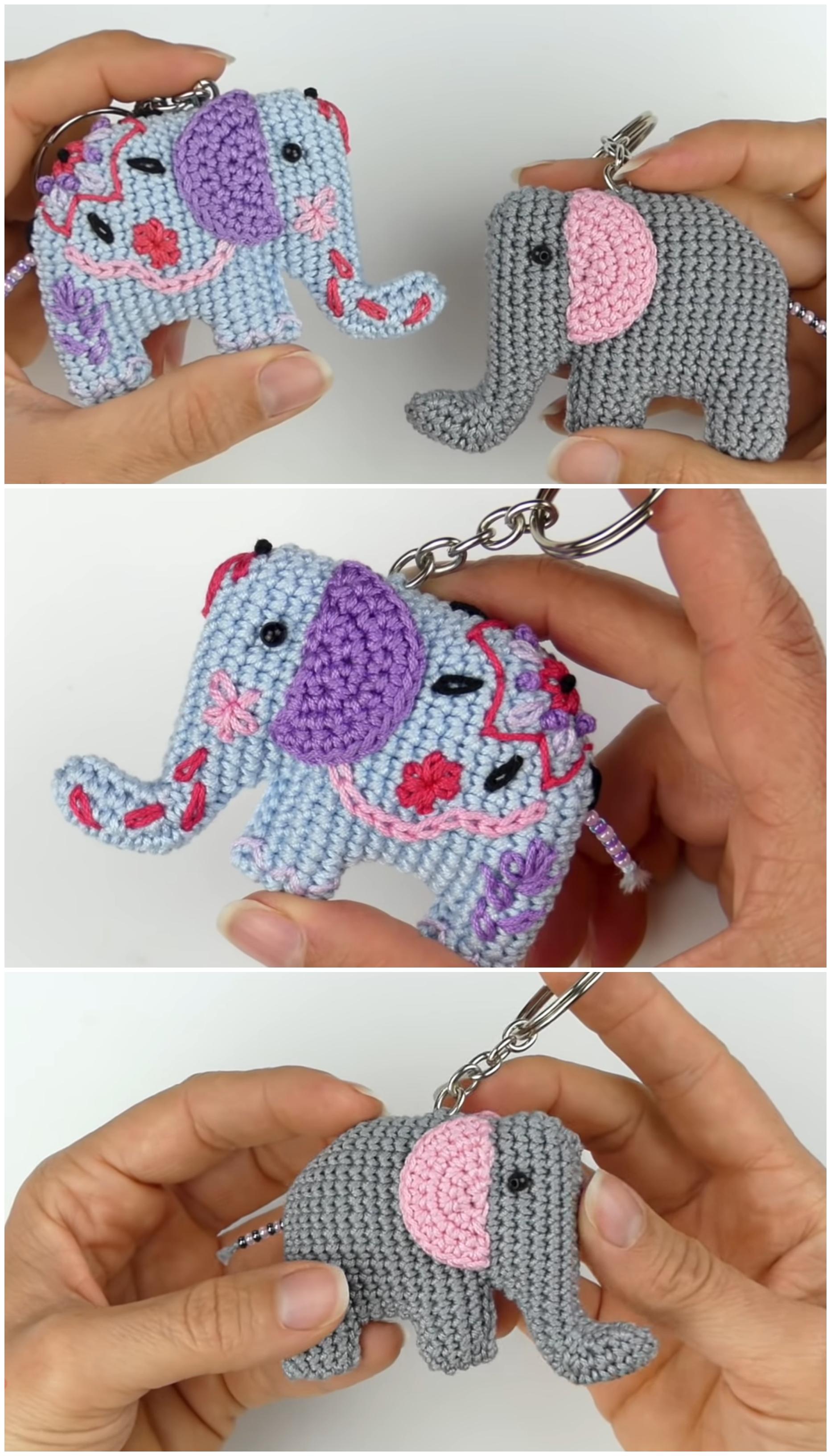 Crochet Elephant Head Applique Elephant Embellishment | Etsy | 3264x1864