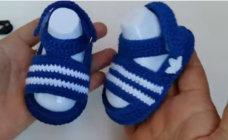 Crochet Adidas Baby Sandals - We Love