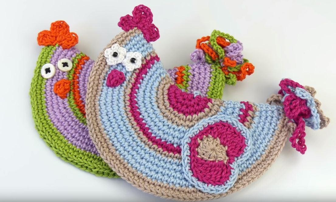 Crochet Chicken Potholder We Love Crochet